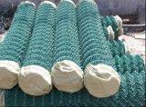 Engranzamento revestido da cerca da ligação Chain do PVC da fábrica