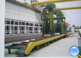 Máquina automática del chorreo con granalla de la viga de H/máquina del chorreo con granalla de la viga de la construcción