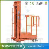 3m bis 4.5m Mobile-halb elektrische hydraulische Ordnungs-Picker-LKW-Maschine