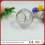 Botella de cristal redonda clara al por mayor de Aromatherapy con el difusor de lámina
