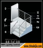 Escadaria espiral interna moderna do aço inoxidável