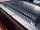 Congelador de vidro da parte superior contrária da porta