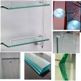 浴室のためのHightの品質のゆとりのフロートガラスのFrsotedのガラス棚