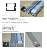 Verkoper van Tope zette Lineaire het Van een flens voorzien LEIDENE Profiel van het Aluminium in een nis