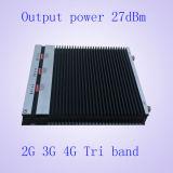 tri Bandgsm900MHz&Dcs1800MHz&3G 2100MHz aumentador de presión de la señal del teléfono móvil del teléfono celular de 27dBm