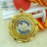 Таможня конструировала медальон Вьетнама спорта металла с стикером