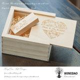 Cadre en bois fait sur commande de Hongdao USB avec USB en bois Wholesale_L