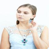 Новый комплект ювелирных изделий серьги браслета ожерелья Jewellery способа камней стекла деталя