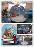 Enfriar Festival de Navidad DIY Globo de la nieve en tamaño humano