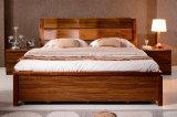 固体木のベッドの現代ダブル・ベッド(M-X2255)