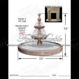 Fontaine en pierre de marbre Mf-298 de lumière d'or de désert de fontaine de granit