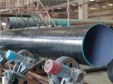 Fbe cubrió el tubo de acero cubierto 3PE del agua de la bebida de la superficie exterior de la superficie interior