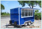 12フィートの承認される販売/ハンバーガーのヴァンの食糧トレーラーのタイプのための移動式ケイタリングのトレーラー