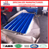 Couleur Coated Prepainted Steel Corrugated Sheet pour Roof et Wall Panel