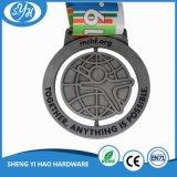 Médaille de sport plaquée par cuivre d'antiquité d'usage de récompense avec la bande