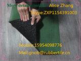 Estera de goma reciclada al aire libre de interior del rodillo del suelo de la gimnasia del patio