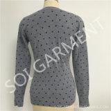 Les nouvelles dames ont tricoté le chandail mince d'impression de pull (SOITSW-67)