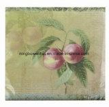 Салфетка белой бумаги печатание логоса полного цвета верхнего качества