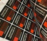 ABSINKEN-Kleberaufkleber des preiswerten schwarzen ovalgeschnittenen Firmenzeichendruckes Plastik
