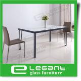 Vector de cena claro del vidrio Tempered con la chapa de madera de la ceniza