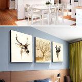 Illustration personnalisée de mur de peinture de toile d'huile animale pour la maison, bureau, décoration d'hôtel