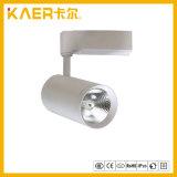 Lumière élevée de piste d'ÉPI de la puce 18W DEL de CREE de cercle avec le choix blanc ou noir de dispositif