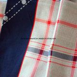 Voller Check-reagierendes gedrucktes Gewebe der Prozessions-Technik-Kunst-100%Cotton für Bettwäsche-Set