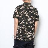 Chemises 100% de polo personnalisées de camouflage d'uniformes de chemises de polo de logo de chemises de polo de coton
