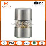 O manual do aço inoxidável opera o mini moinho de pimenta de sal
