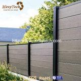 Im Freien kundenspezifischer Aluminium-WPC Garten-Zaun der freien Pflege-für Verkauf
