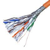 La UL certificó la platija 100% probó el gato de los 20m. cable de la cuerda de corrección de 6A SSTP