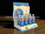 Étalage personnalisé de palette de carton pour des cuvettes, crémaillères d'étalage au détail de bouteille
