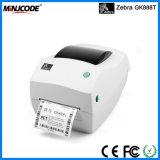 Impressora original da etiqueta da etiqueta de código de barras da zebra, 102 mm/Sec, impressora do código de barras, impressora da etiqueta, máquina de impressão, zebra Gk888t