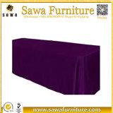 Tissu rectangulaire pur de Tableau de Tableau de banquet de polyester de couleur de qualité
