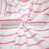 Da forma orgânica do algodão das meninas terno longo dos pijamas da luva do miúdo popular
