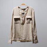 Полотно ткани Crinkle 55%Linen 45%Cotton/смешанная хлопком ткань Crepe