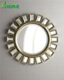 Miroir décoratif d'artisanat de Newsest d'art de fleur de salle de bains de métier de miroir de salle de bains de miroir Shaped fabriqué à la main de mur