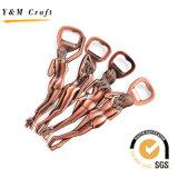 개인화된 주문 로고와 모양 금속 병따개 Keychain (Y03007)