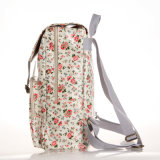 British floral retro impermeable Mochila Notebook PVC Lienzo