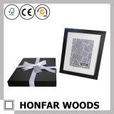Moderner schwarzer hölzerner Abbildung-Foto-Rahmen für Geschenk