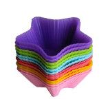 Molde del chocolate del silicón del molde de la torta del silicón de la torta del mollete solo/molde del hielo del silicón/molde de la torta de la dimensión de una variable de la estrella