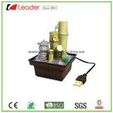 Fontes Tabletop cobradas USB da resina para os ornamento Home da decoração e do jardim