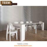 El vector de cena extensible moderno del vidrio Tempered se levanta las piernas del escritorio