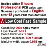 Mehrschichtige 1.2mm 4L V0 OSP industrielle Computer Schaltkarte-Leiterplatte