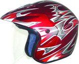 太字の盾のバイザーが付いているオートバイのヘルメット3/4の開いた表面半分のヘルメット