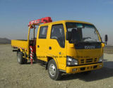 3 van de Bemanning van de Cabine van Isuzu 3t van de Dubbele van de Cabine Vrachtwagen Opgezette ton Prijs van de Kraan