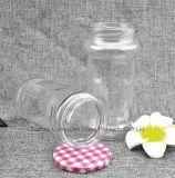 690 Kruik van het Glas van de Opslag van de Blikken van de Koffie van de Mond van de Rang van het Voedsel van ml de Transparante, Cilindrische, Brede