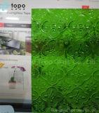 glace figure en verre modelé de flore de 3-6mm pour la décoration de construction (CP-FP)