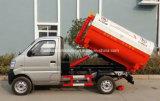 El pequeño carro de basura práctico del brazo de gancho de leva de 6 ruedas 2 M3 a 3m3 cae el carro