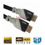 Cabo de alta velocidade do Ethernet 3D 2.0V 4k HDMI